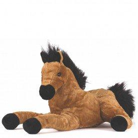 cavalo de pel cia 50 cm marrom claro 1