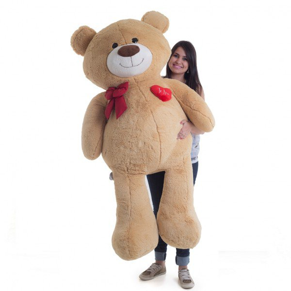 urso de pel cia gigante 1 metro e 50 cm apaixonado doce de leite 1