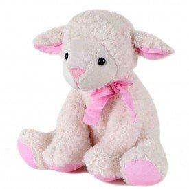 ovelha de pel cia 35 cm rosa