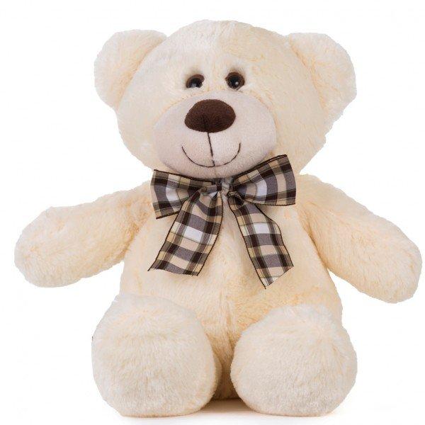 urso de pel cia 40 cm decore p ssego com la o