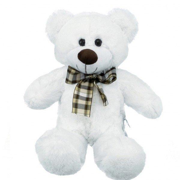 urso de pel cia 40 cm decore branco