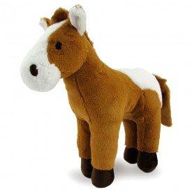 cavalo de pel cia 35 cm marrom com branco