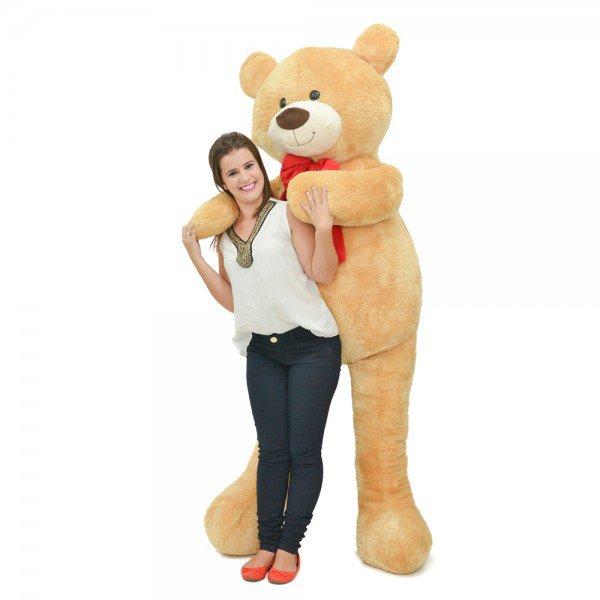 urso de pel cia gigante 2 metros apaixonado doce de leite frente 1