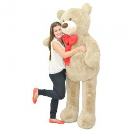 urso de pel cia gigante 2 metros apaixonado av frente