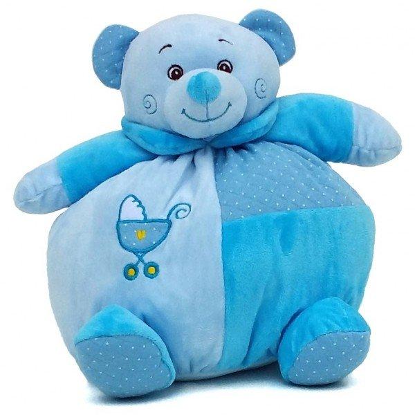 urso de pel cia 30 cm baby azul