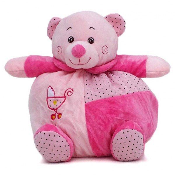 urso de pel cia 30 cm baby rosa