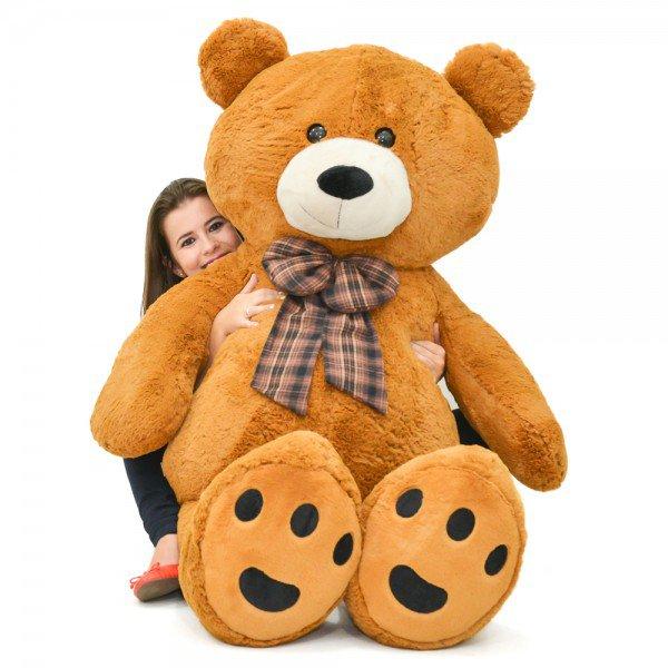 urso de pel cia gigante 1 metro e 50 cm harry marrom sentado 3