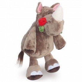 rinoceronte de pel cia 35 cm com flor 1