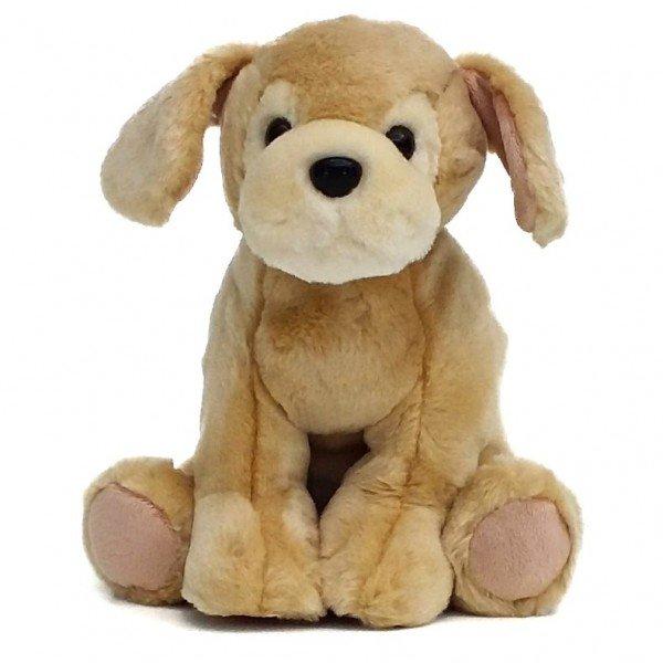 cachorro de pel cia 30 cm labrador filhote caramelo frente