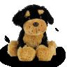 lit1636pto cachorro de pel cia 33 cm engra adinho preto com caramelo