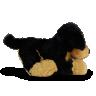 lit1636pto cachorro de pel cia 33 cm engra adinho preto com caramelo 2