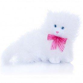 gatinha de pel cia 30 cm manhosa branca peluda