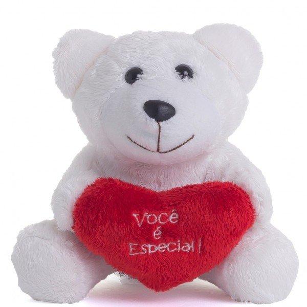 urso de pel cia 17 cm doce encanto branco 1