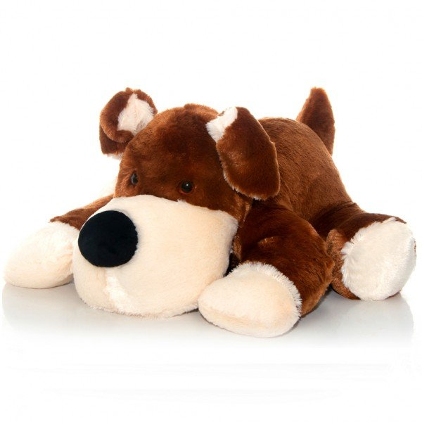 cachorro de pel cia 65 cm duque marrom