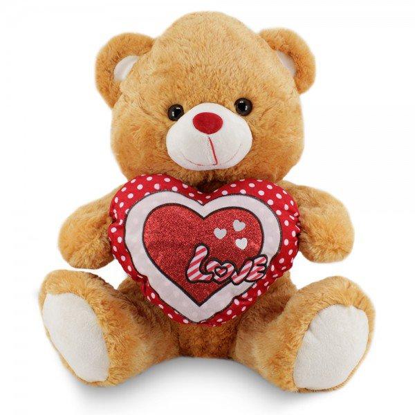 fb3519 urso de pelucia 62cm love caramelo