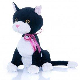 gatinha de pel cia 30 cm charmosa preta