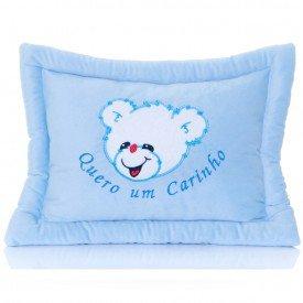 travesseiro de pel cia azul para beb