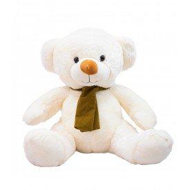 urso de pelucia 22 cm sentado keny com cachecol