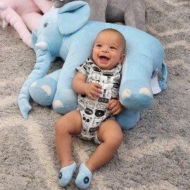 354 elefante almofada azul