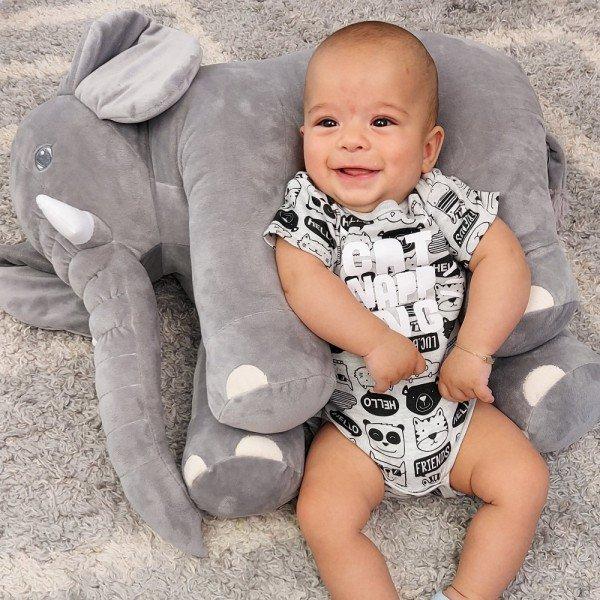354 elefante almofada cinza